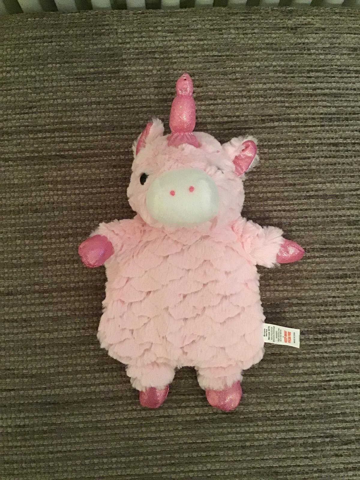Pink Unicorn wheat microwaveable heat pad New without tags