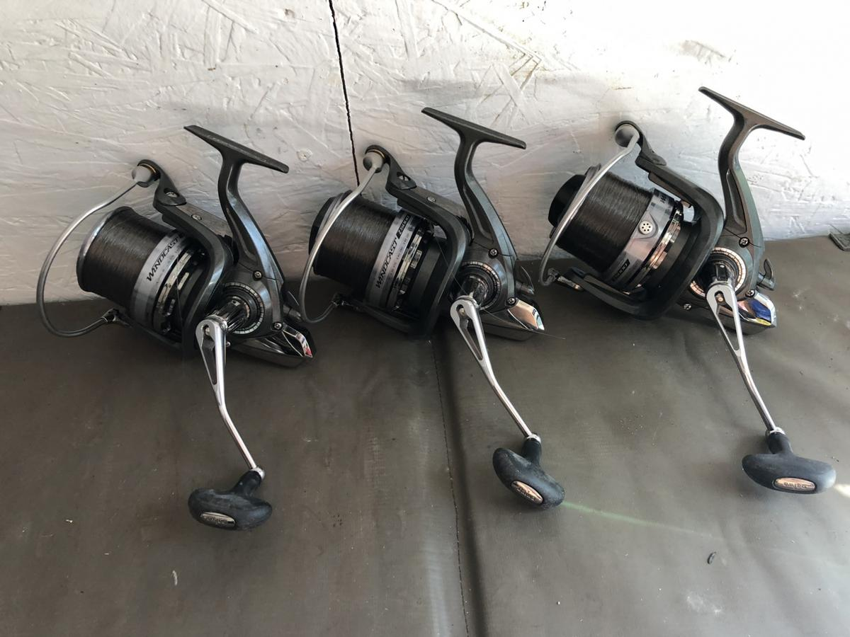 3 x daiwa windcast z reels carp fishing Absolutely mint condition set of reels, spoiled with line-ready to go £240 dartford or can be posted 07 577 240 443