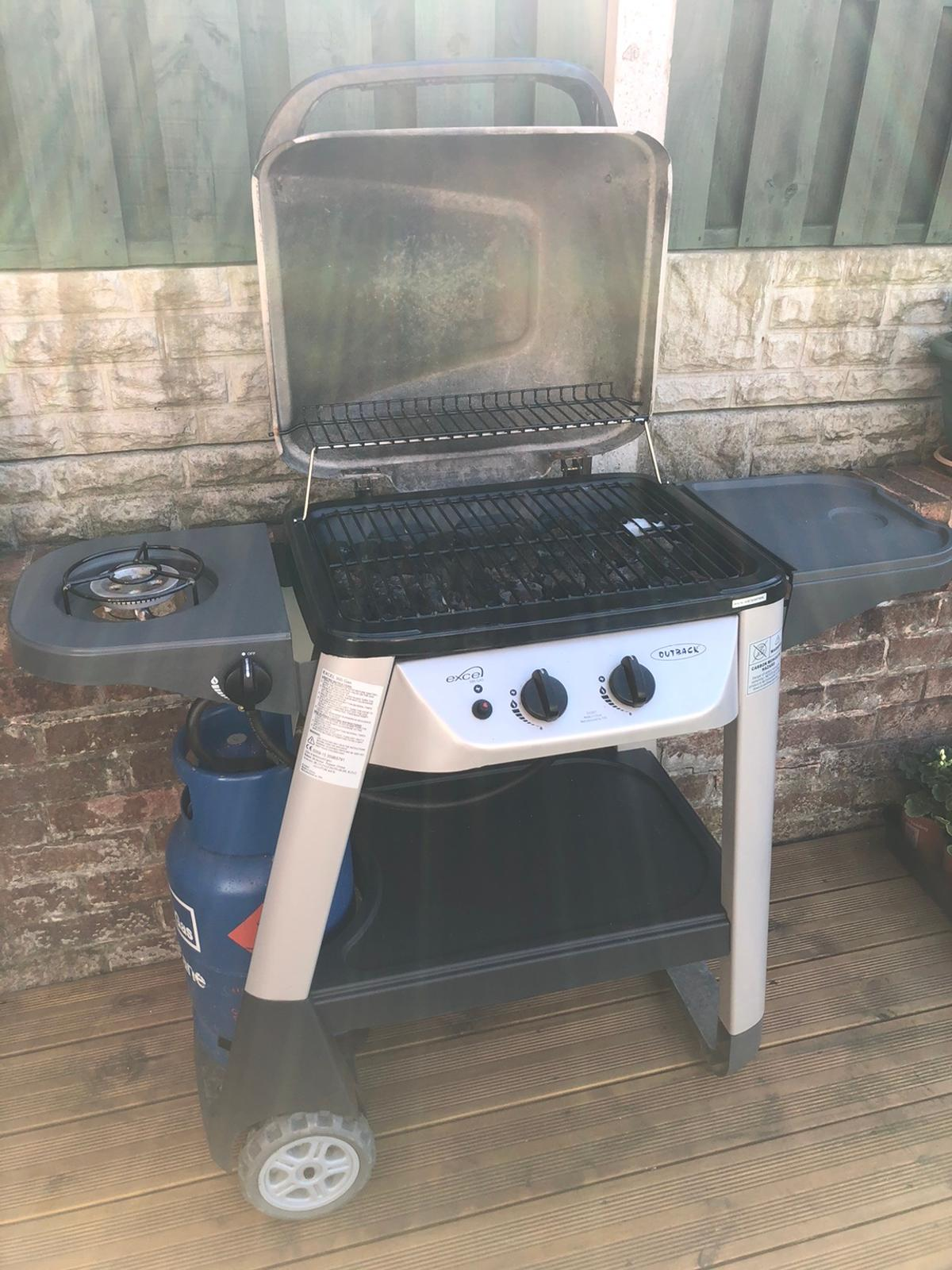 2 Burner Outback Gas BBQ Extra Hob on the side  Does not come with Gas Comes with OutBack Cover