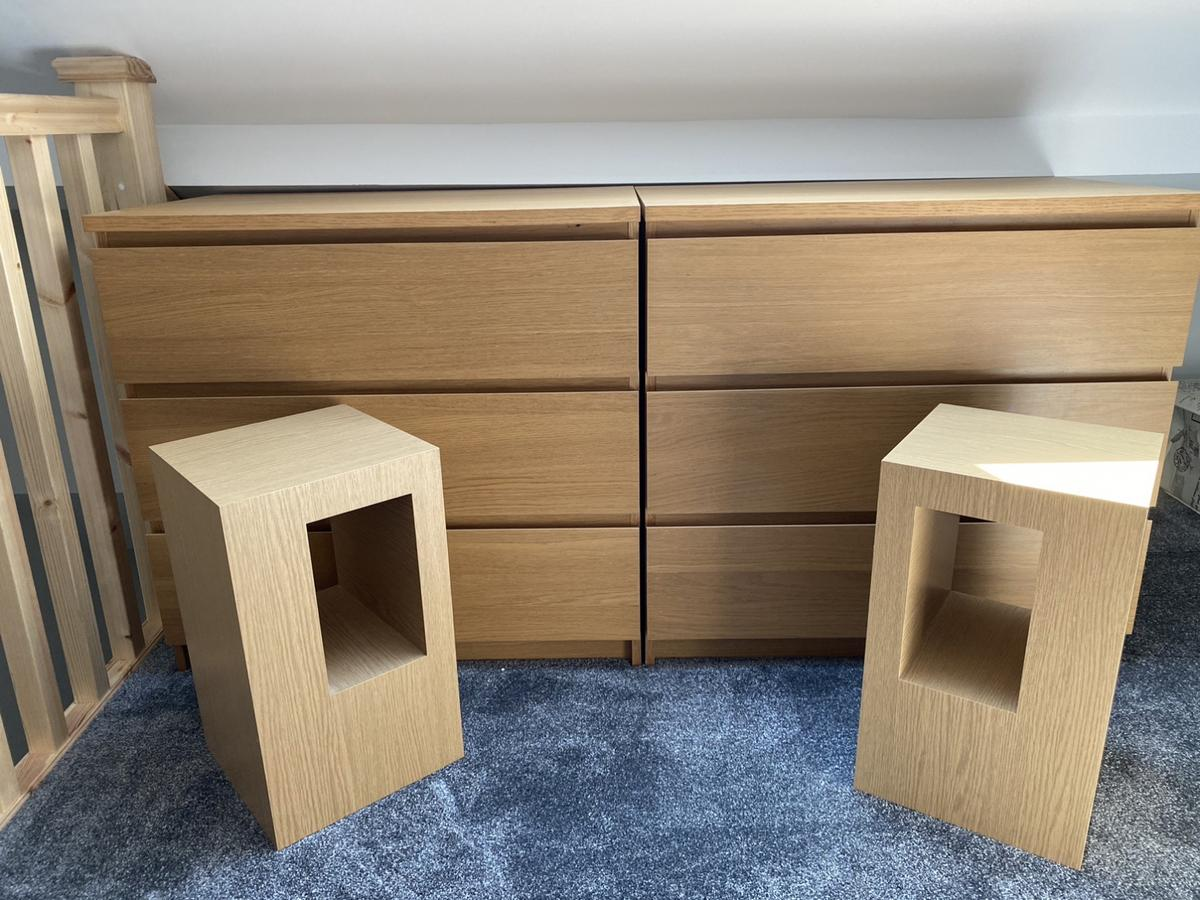 Malam draws £20 each Bedside tables £5 each OR £40 for ALL  Good condition  Must be collected from Castleford