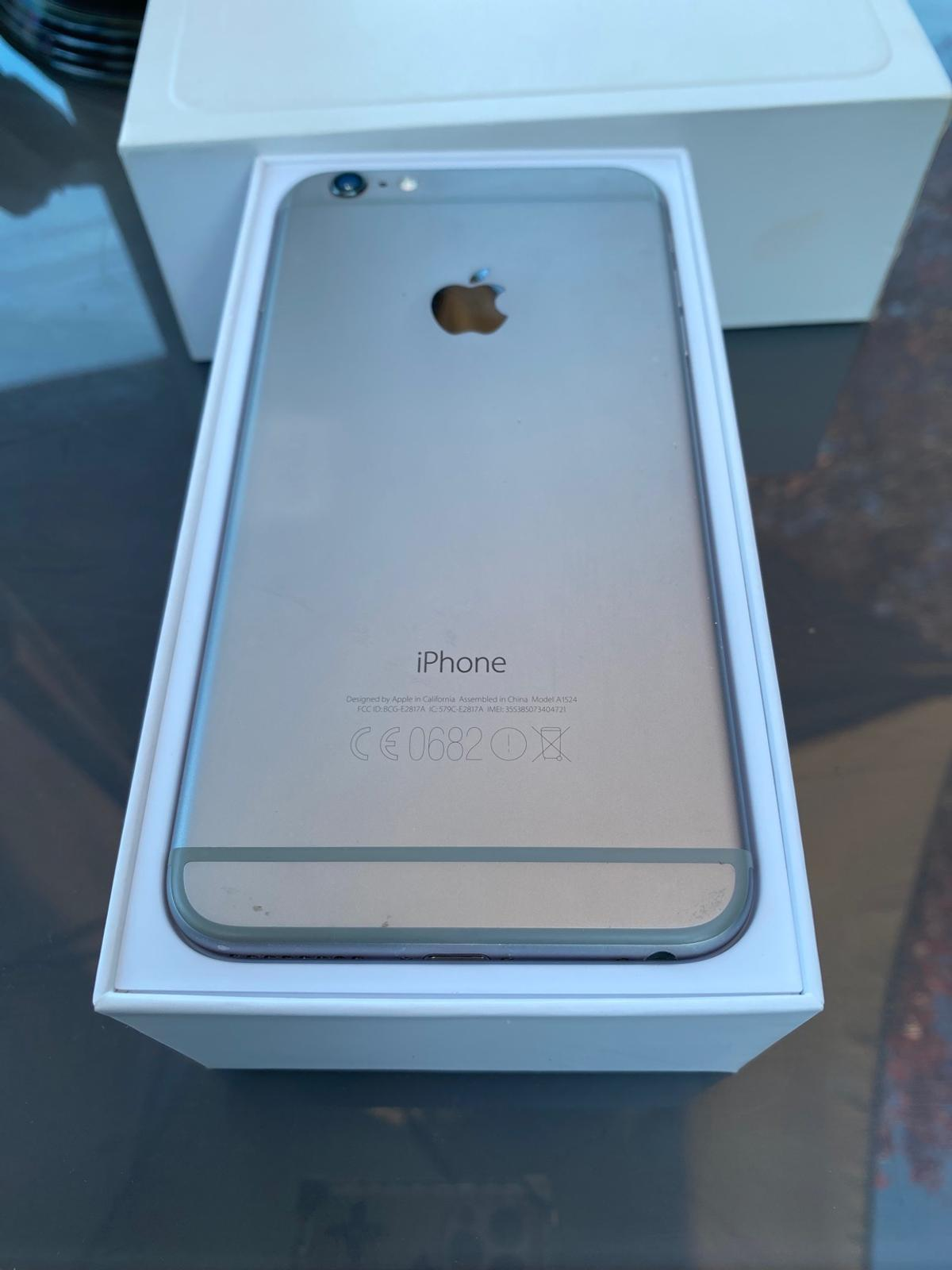 Used iPhone 6 plus 64gb No marks or scratches on the phone has was keep in a case when was being used. Factory reset  In box not the original box but is a iPhone 6 plus box. no charger or ear piece.  Please no time waster, please free feel to ask questions.