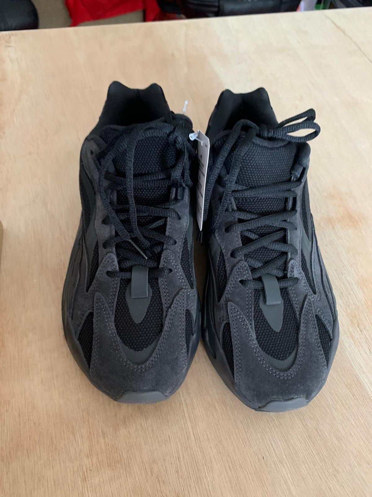 Brand new in box adidas yeezy 700 V2 in Vanta colour way. Uk 8. Further sizing details in photos. Email receipts from sneakersnstuff can be provided. Open to offers and any further questions let me know!