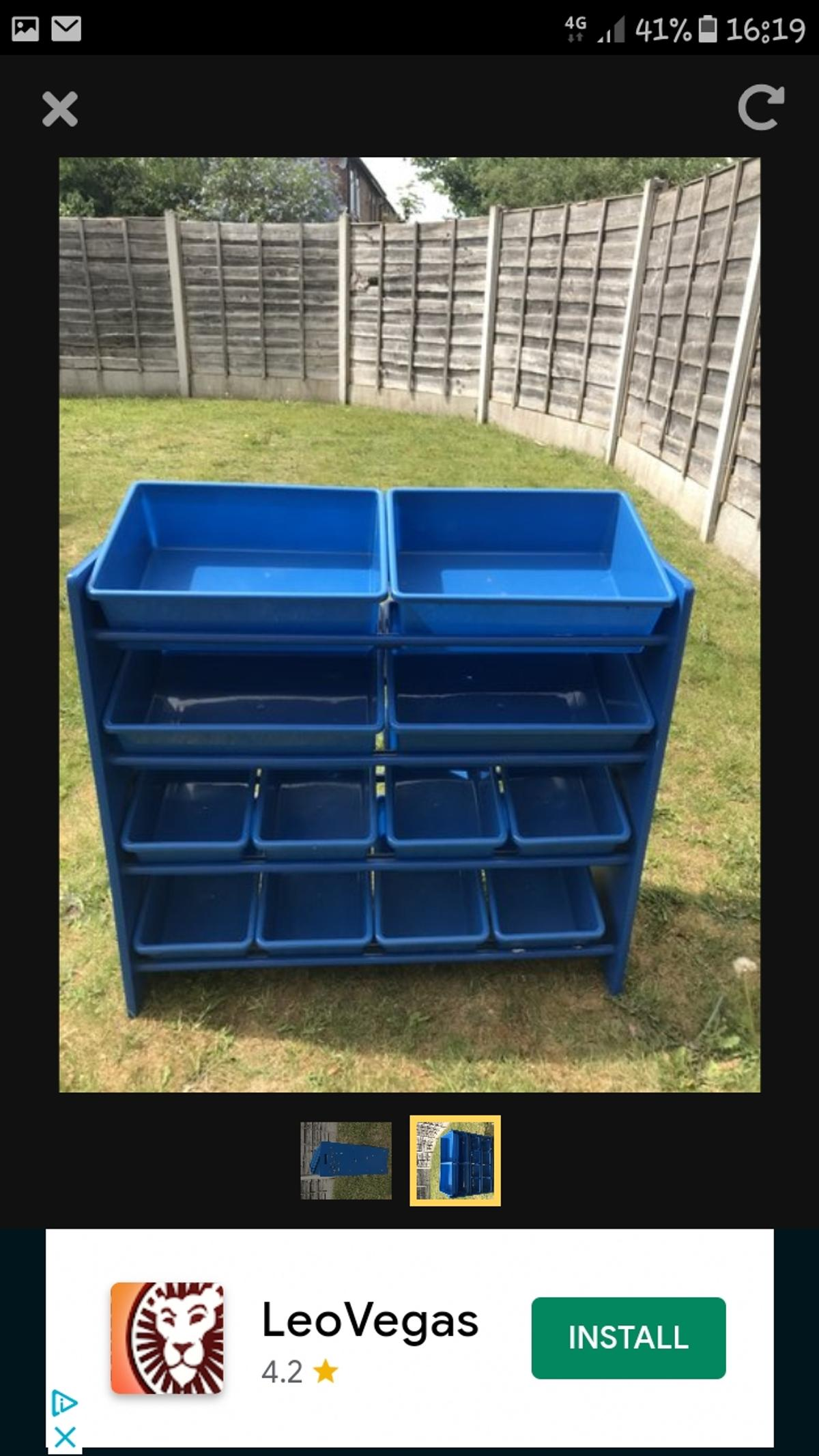 12 plastic drawer storage unit. used but in good condition can deliver if local.