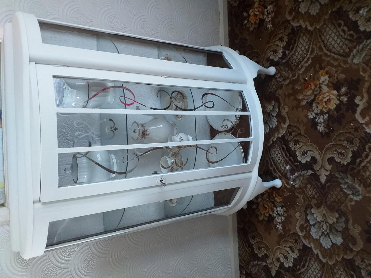 Upcycled Dispalt cabinet Annie Sloan Old White