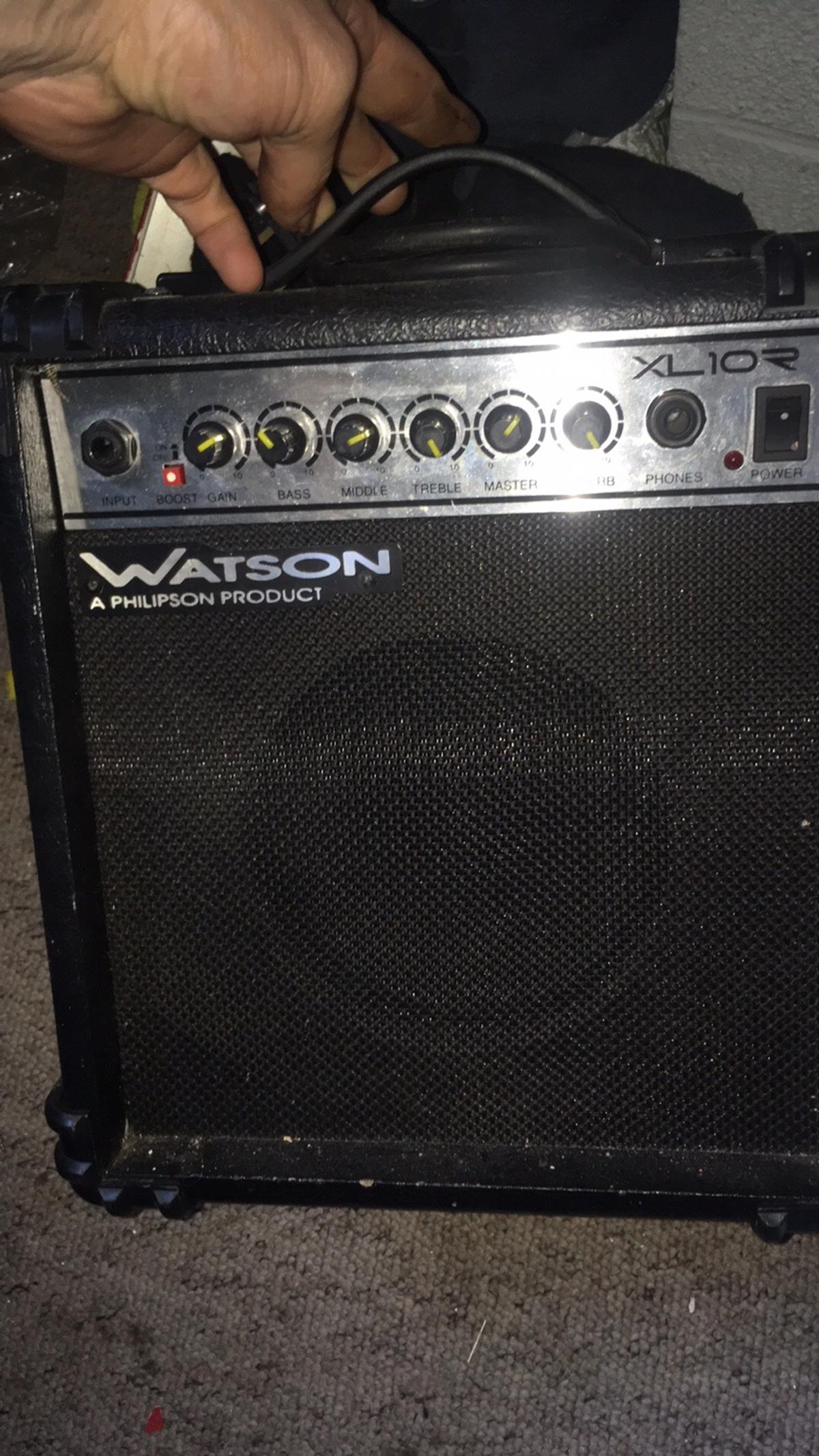 Ibanez guitar and Watson xlr amp 10amp all leads ready to go