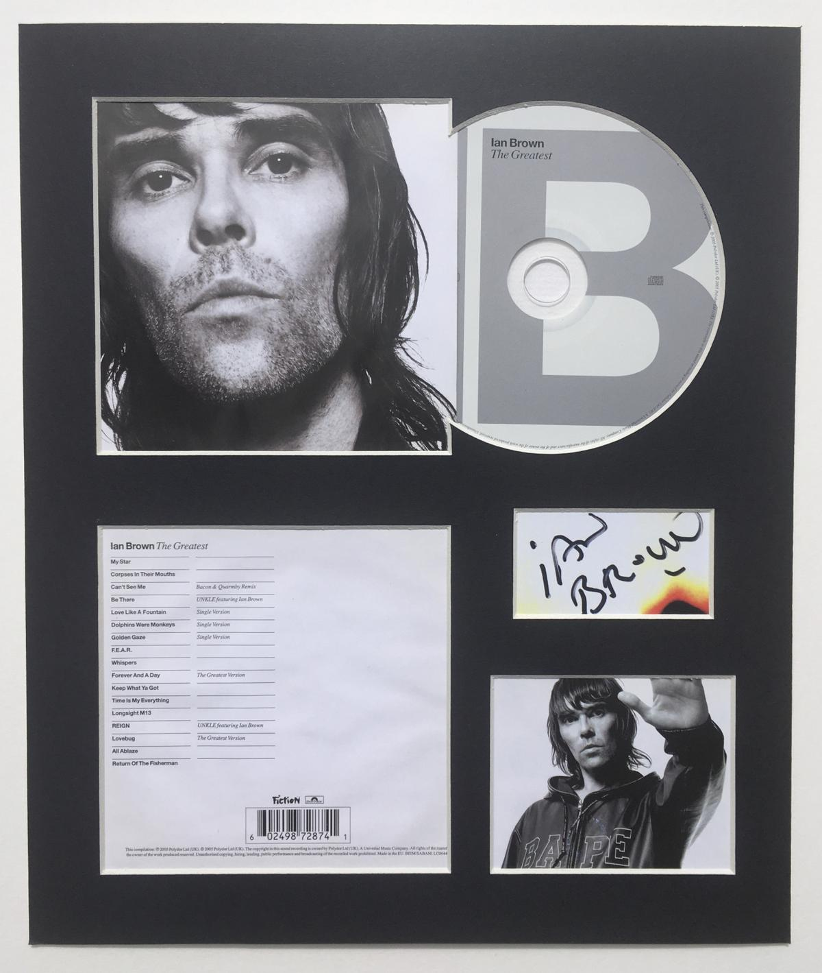"""**POSTAGE** for £3.99  All items are fully mounted, backed and ready to be framed.  Matte Black 2mm mountboard used.  Frame size required is 305mm x 255mm (12"""" x 10"""")  CD, Album Cover & track listing are original and authentic.  Autographs are digitally reproduced from originals, obtained from reputable sources.  An excellent and affordable way of owning a copy of your favorite stars autograph, when a hand signed one can often be too expensive or hard to obtain."""