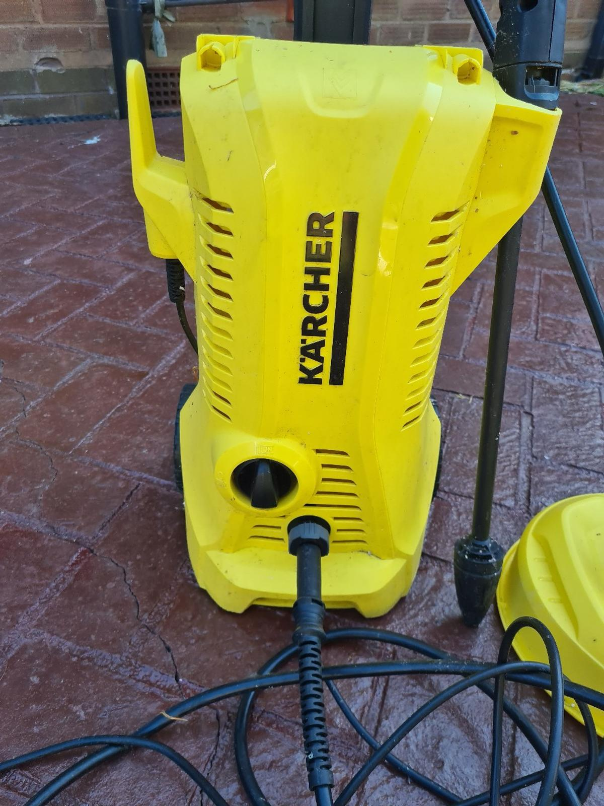 Karcher K2 Pressure Washer in perfect condition.  Used twice as it was a gift but now time to sell it.  Currently selling for £110 in Argos.  Comes with hose adapters which I had to purchase separately.  Contactless collection only