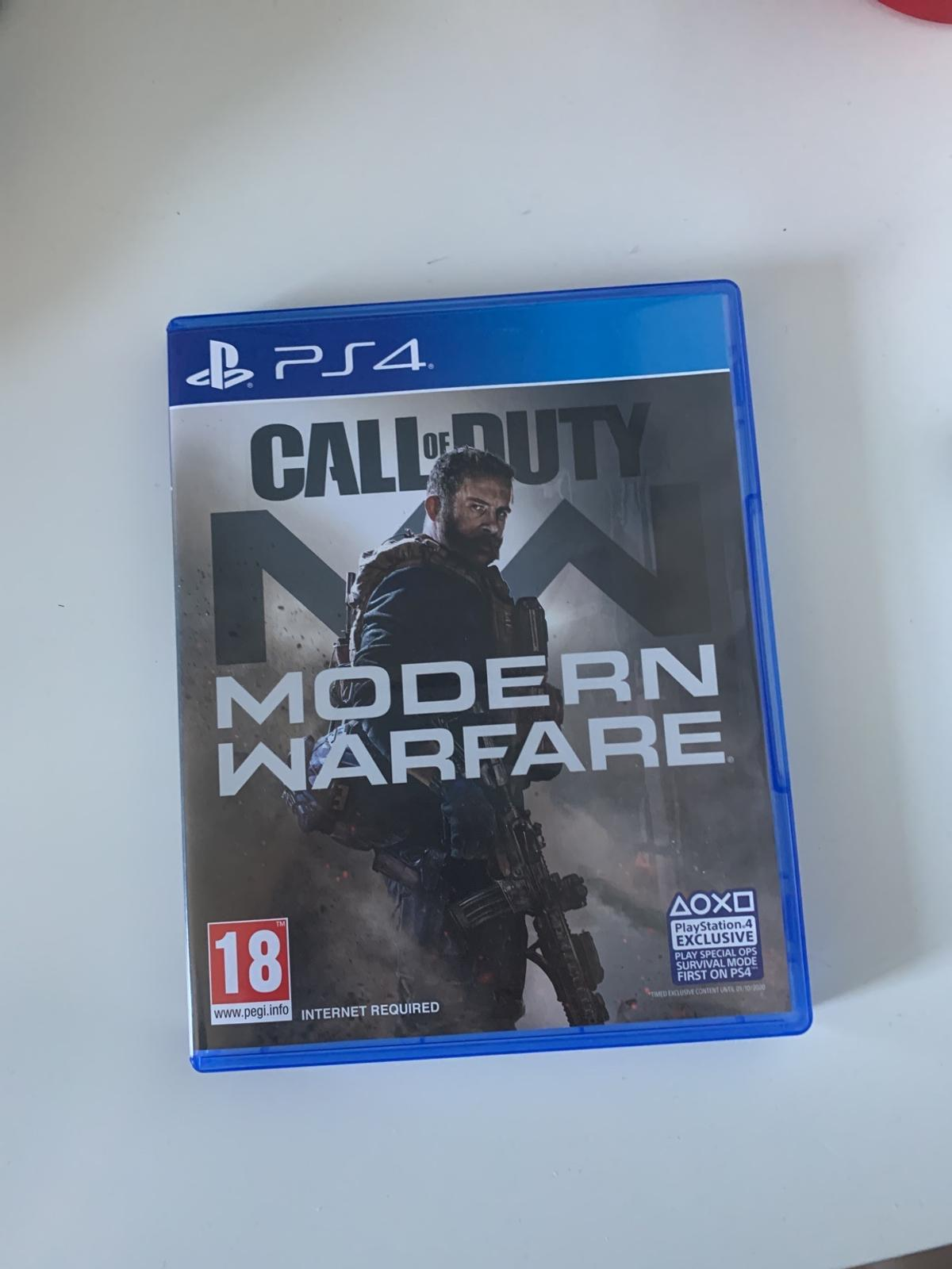 Very good condition, PS4 game, Call of Duty Modern Warfare.