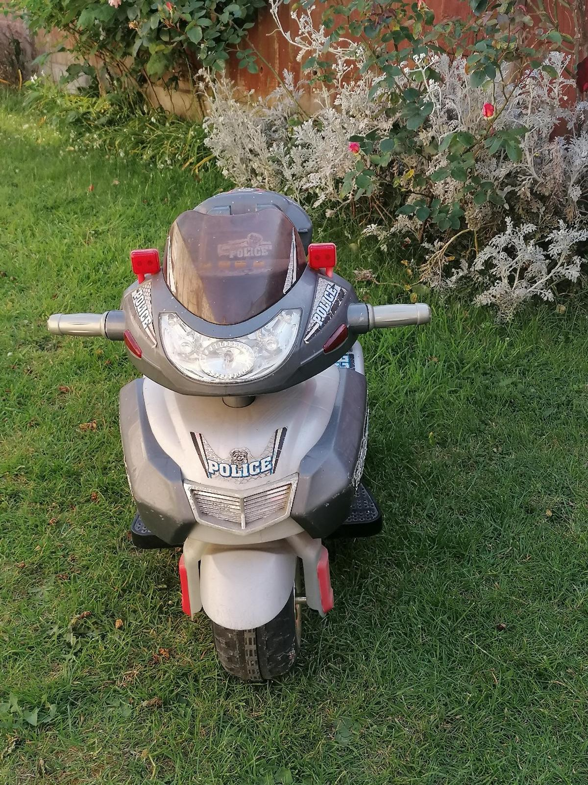 My son has outgrown his Police Bike. It's ideal for a young boy 3-6 years.  Comes with charger!  Good condition. COLLECTION ONLY
