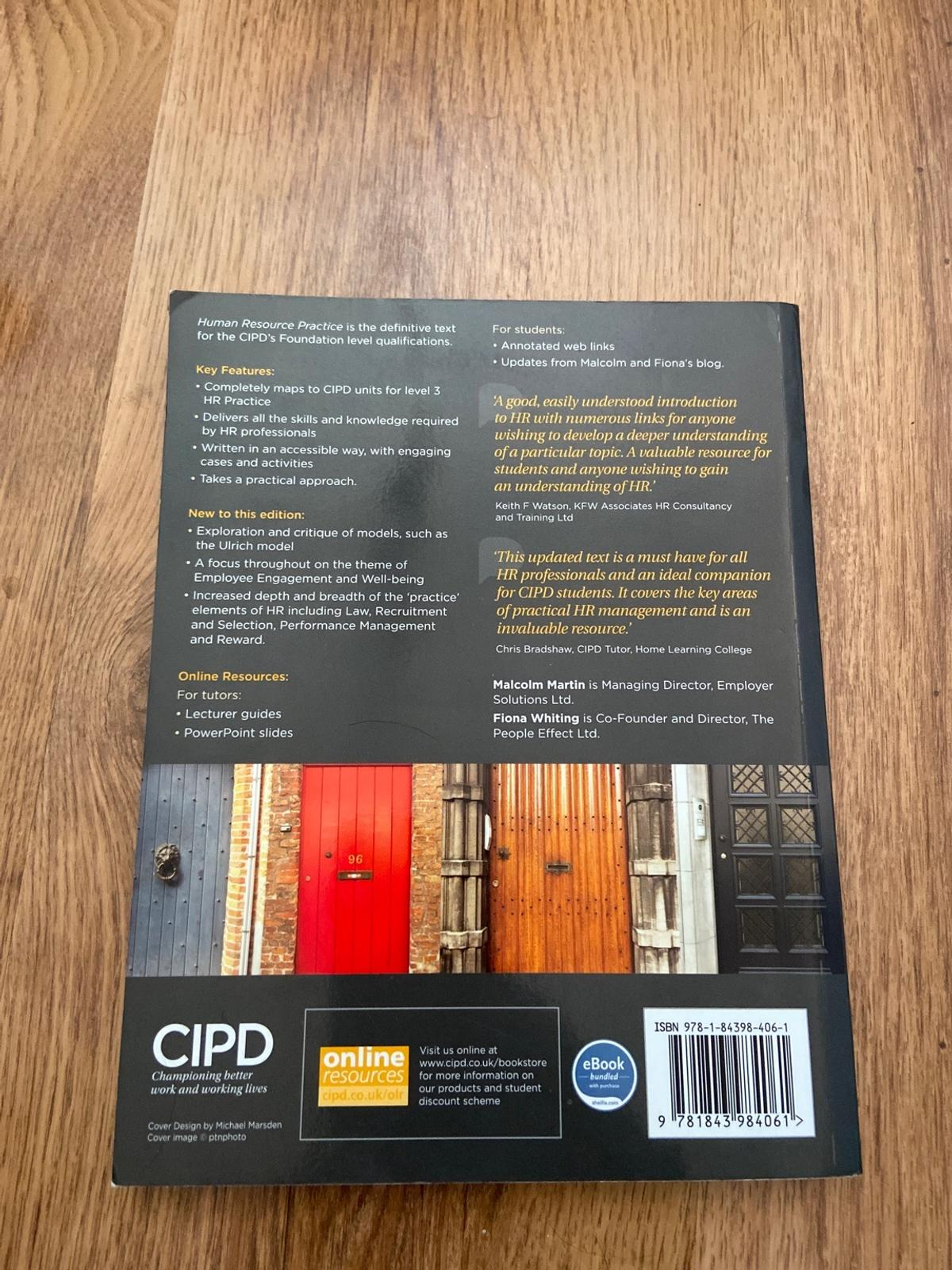 Human resource practice 7th edition - Malcolm Martin and Fiona Whiting. Perfect for your CIPD.  Pretty much as good as new