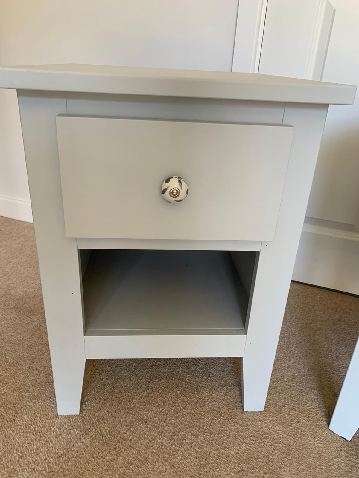 Bedside tables x2 43cm wide 47cm deep 60cm high  Collection East Grinstead