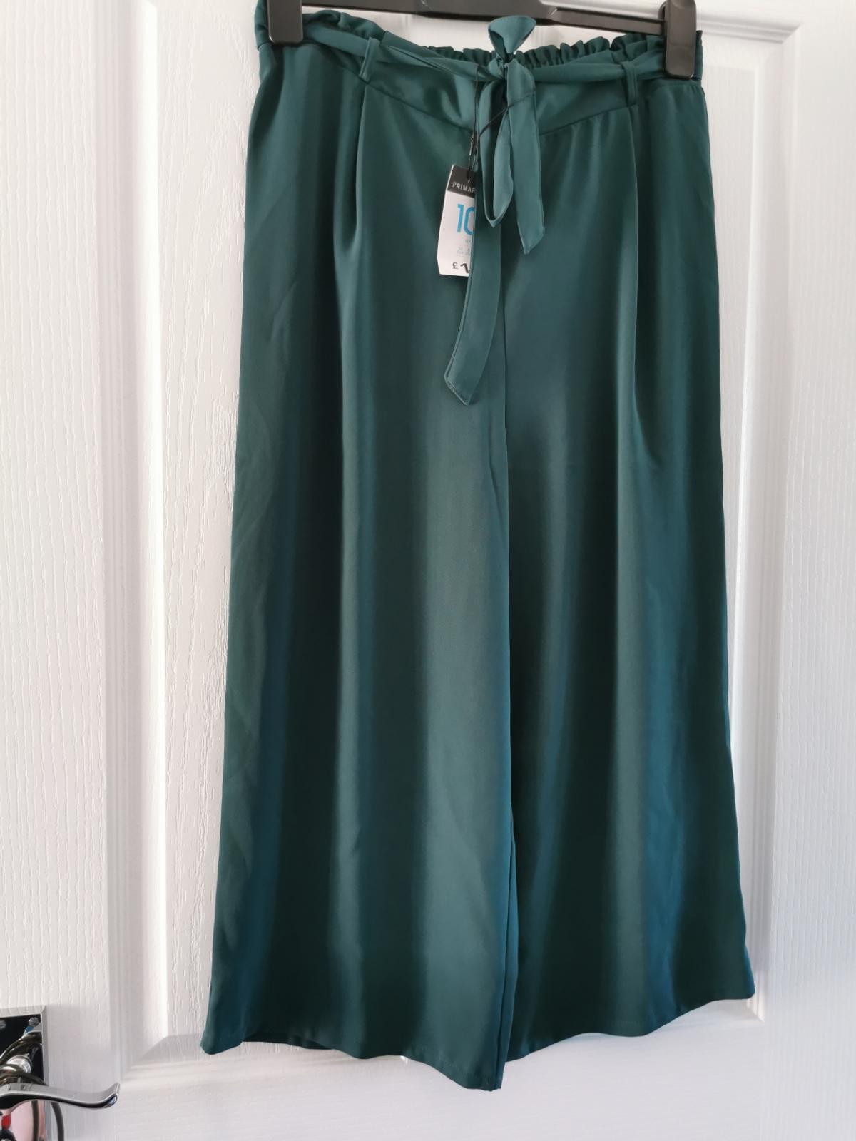 Lightweight ladies trousers - all size 10 Both the teal (SOLD) and green floral have never been worn Purple/grey ones only worn once £5 each