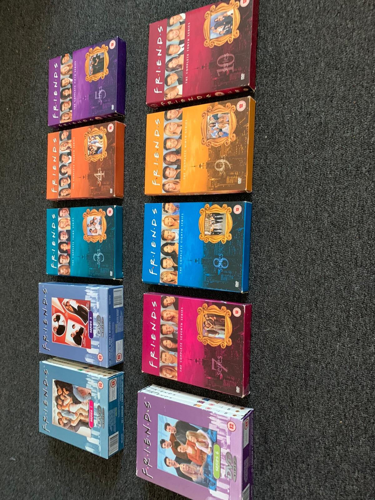 Full box set of friends 1-10 there in great condition will accept offers