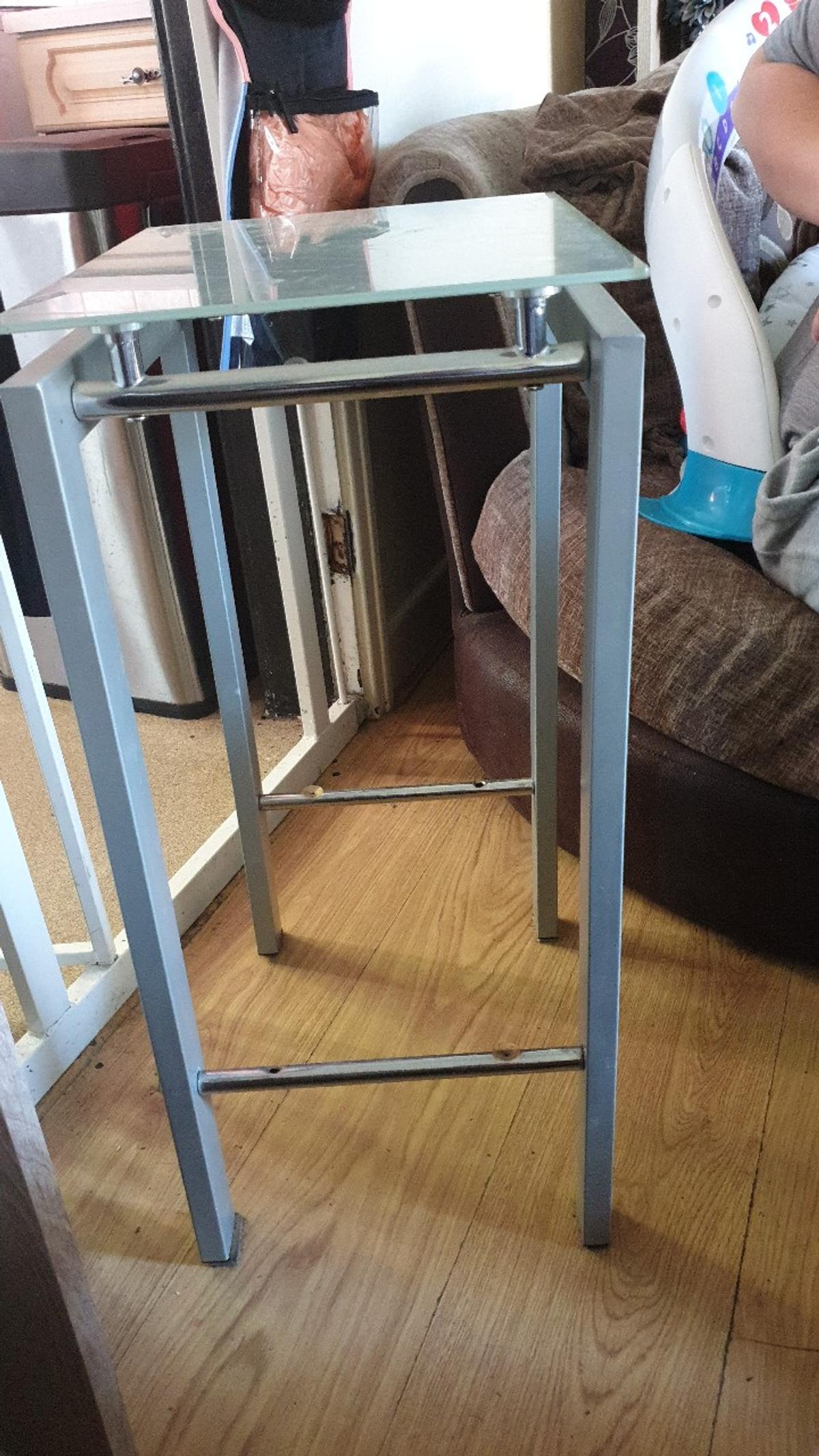 tall glass side table see other adds