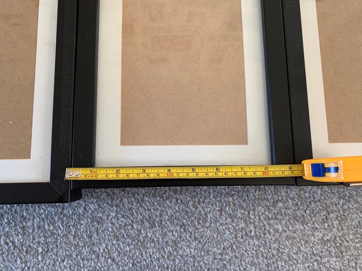 Four photo frames in excellent condition no longer needed due to colour change. 9'x7' see photos