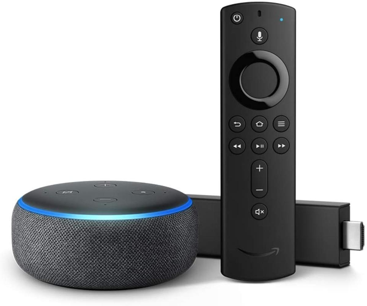 "This bundle includes a Fire TV Stick 4K and an Echo Dot. Pair to get hands-free voice control of your Fire TV with Alexa, just say ""Alexa, play Tom Clancy's Jack Ryan."" Fire TV Stick 4K is the most powerful 4K streaming media stick with a Wi-Fi antenna design optimized for 4K Ultra HD streaming. Enjoy brilliant picture with access to 4K Ultra HD, Dolby Vision, HDR, and HDR10+. Choose from 500,000 movies and TV episodes. Watch favorites from Netflix, YouTube, Prime Video, STARZ, SHOWTIME, CBS All"