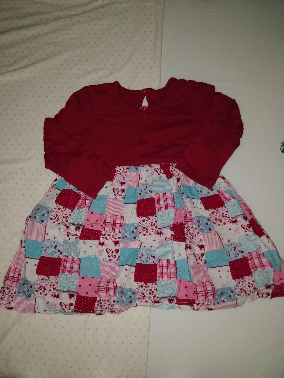Red/pink crochet style dress from George in size 9-12m Good condition, no rips/stains. From a smoke free home.