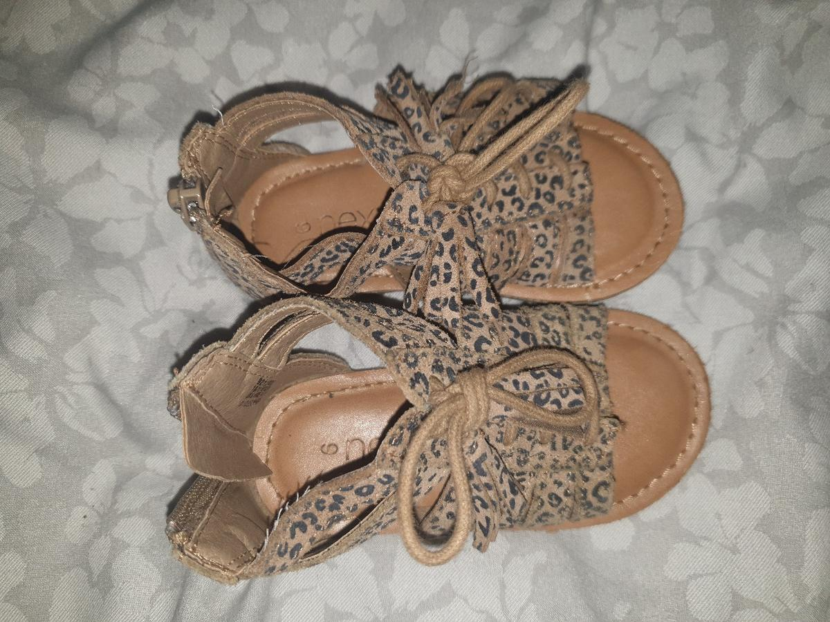girls Next gladiator sandals infant size 6. worn condition. Contactless collection only fron Swarcliffe. payment via bank transfer or PayPal