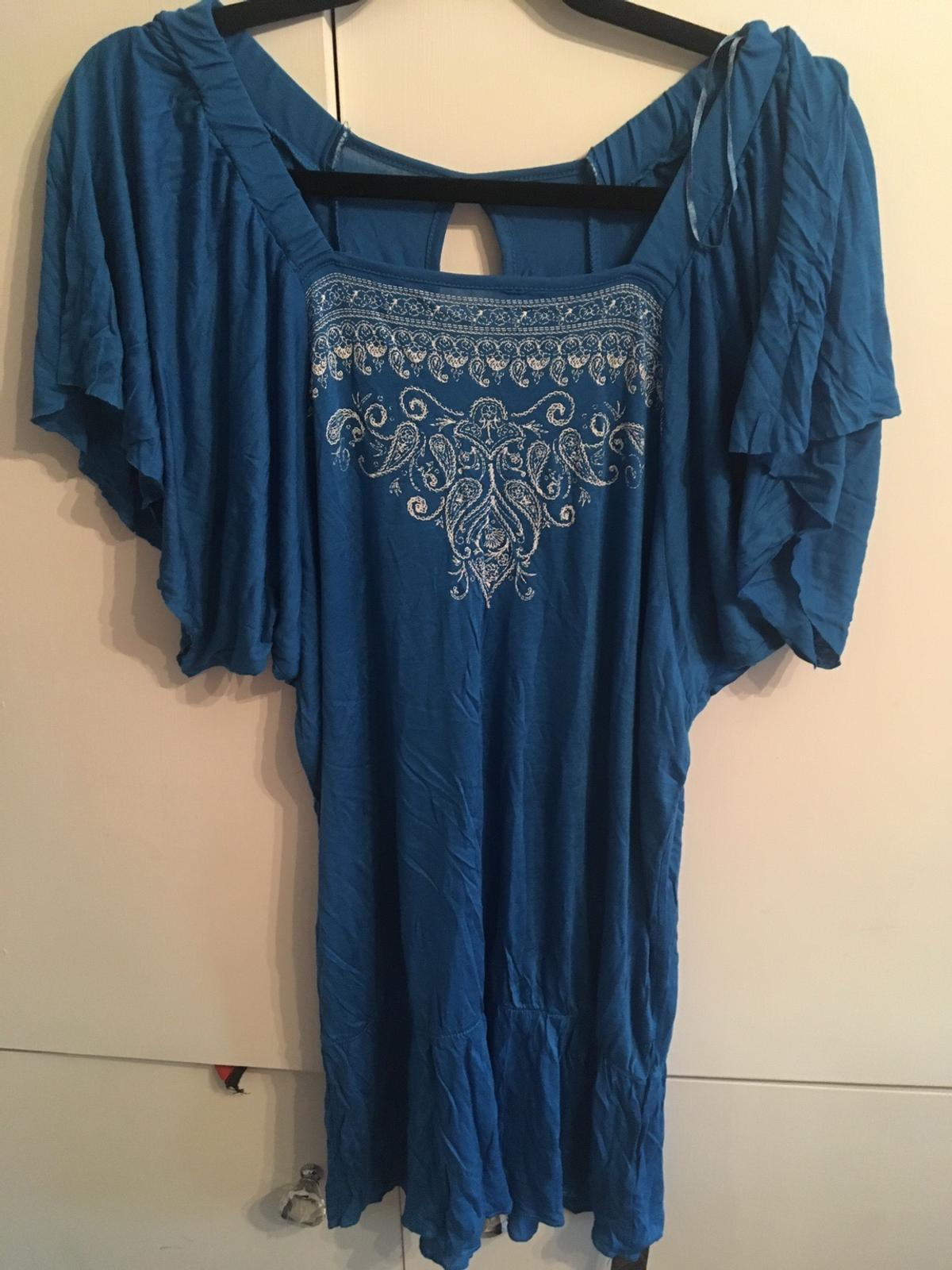 Brand New Ladies top Blue with embroidery detail Collection only