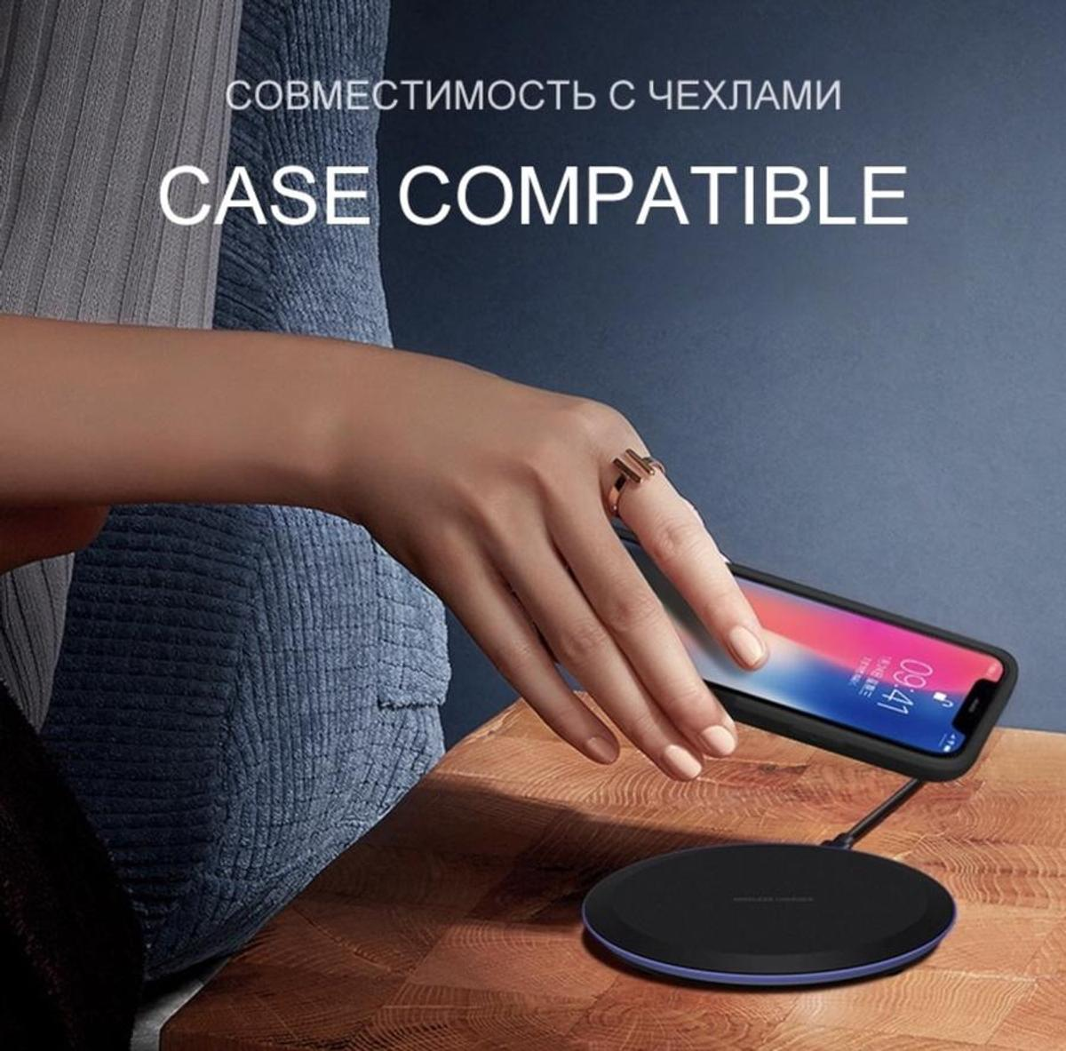 Smartphone wireless charger  Do real safe charging, when the battery is full, it will go to sleep automatically, and the phone last longer.   For iPhone X Xs MAX XR 8 plus Fast Charging for Samsung S8 S9 Plus Note 9 8 USB Phone Charger Pad