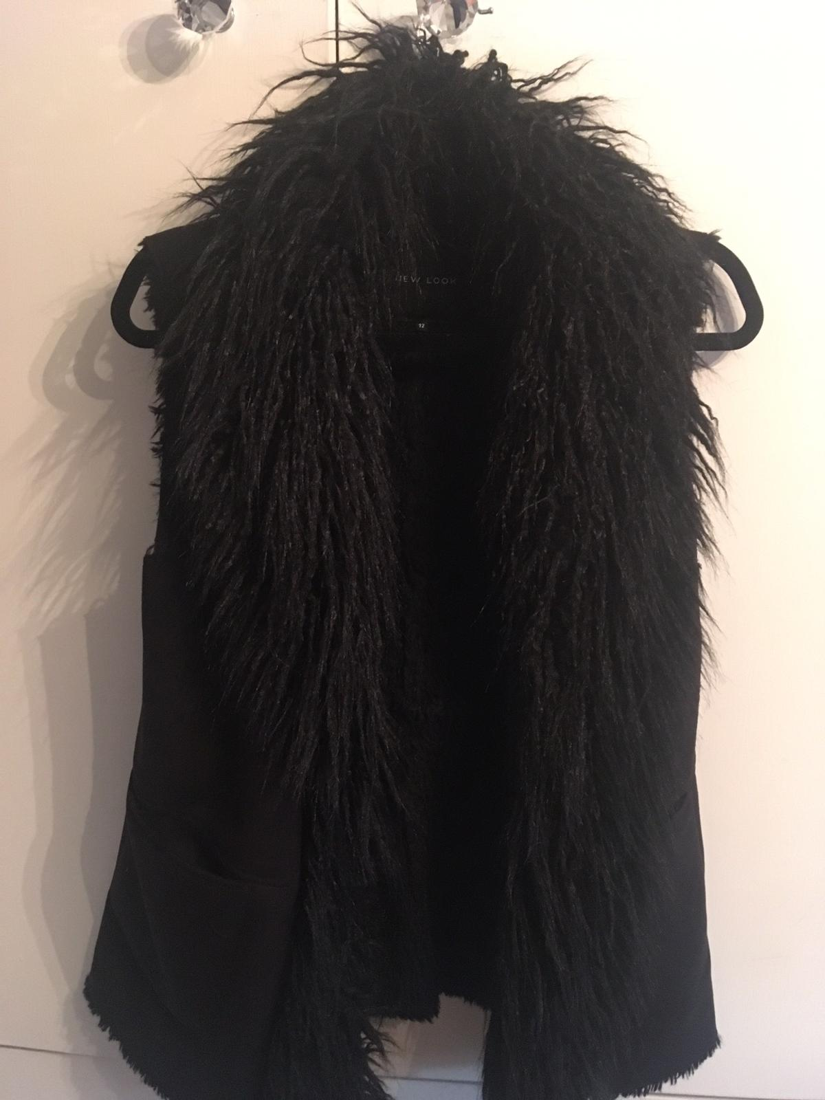 Newlook size 12 Black faux sheepskin Immaculate condition Collection only