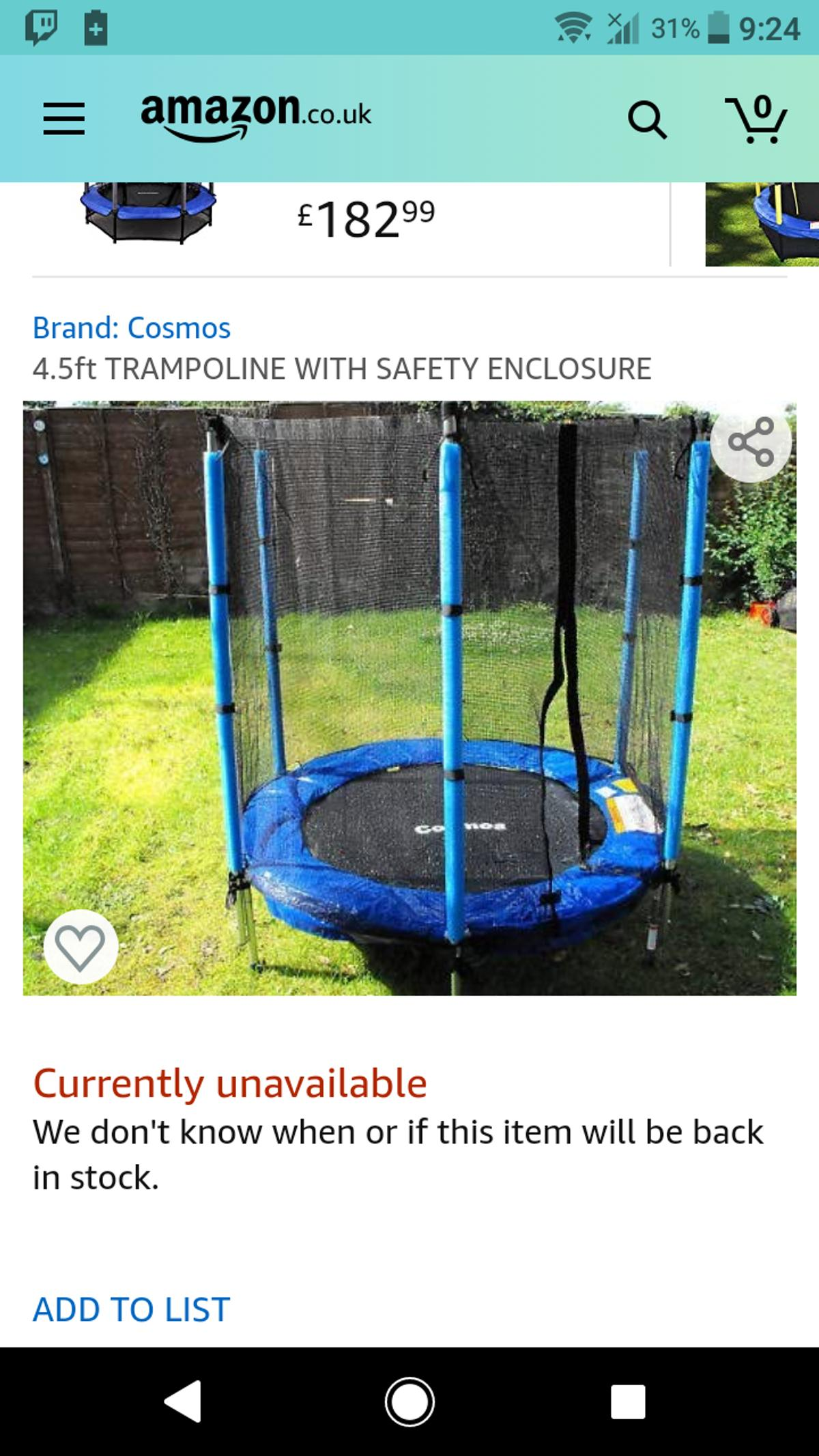 Does have some wear on the enclosure foam however the poles are fine. Buyer to dismantle or take as a complete piece. PLS NOTE COLOUR IS DIFFERENT FROM PICTURE ABOVE.