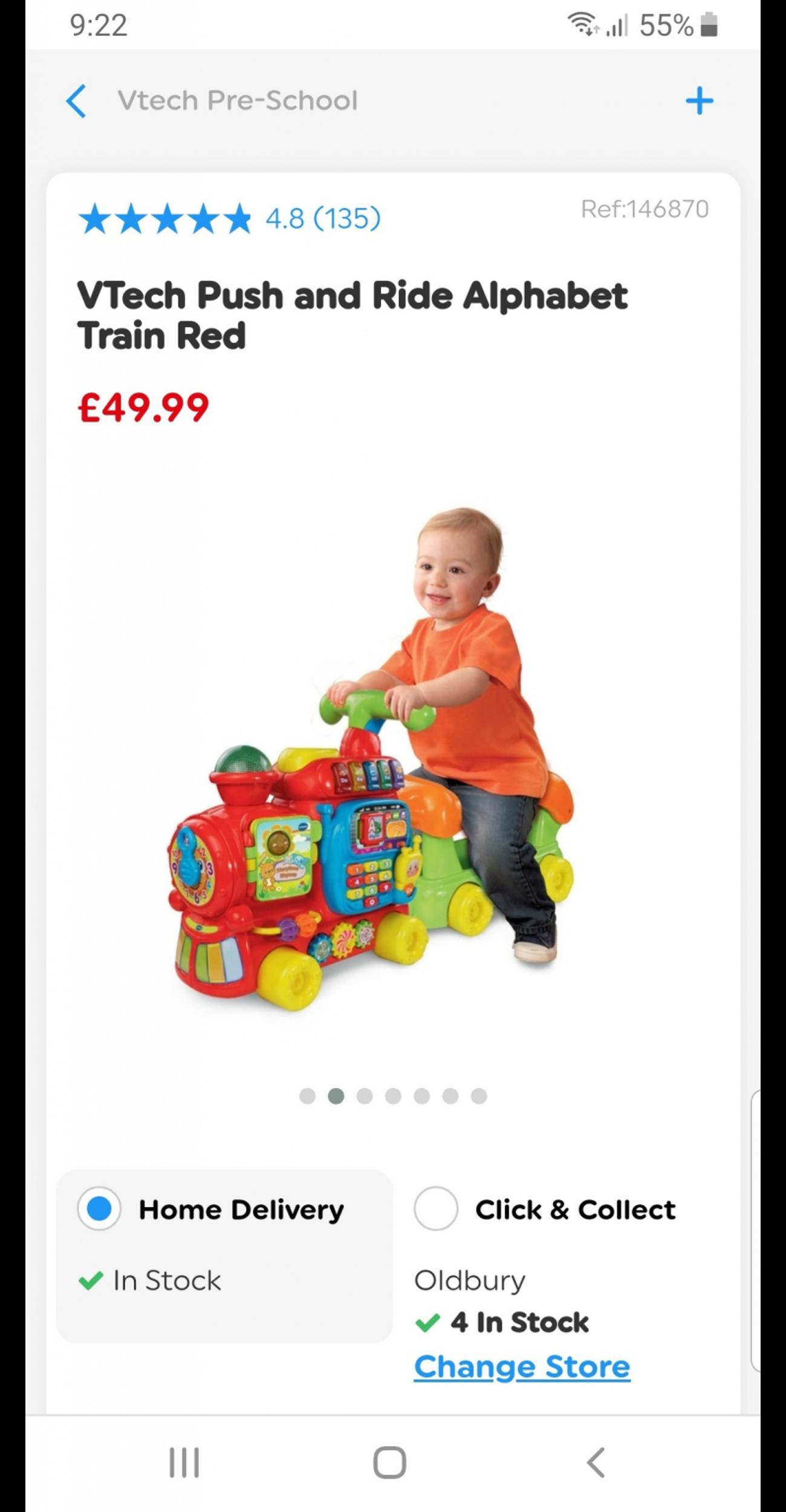 push and play train in excellent condition. plenty to play and learn with.