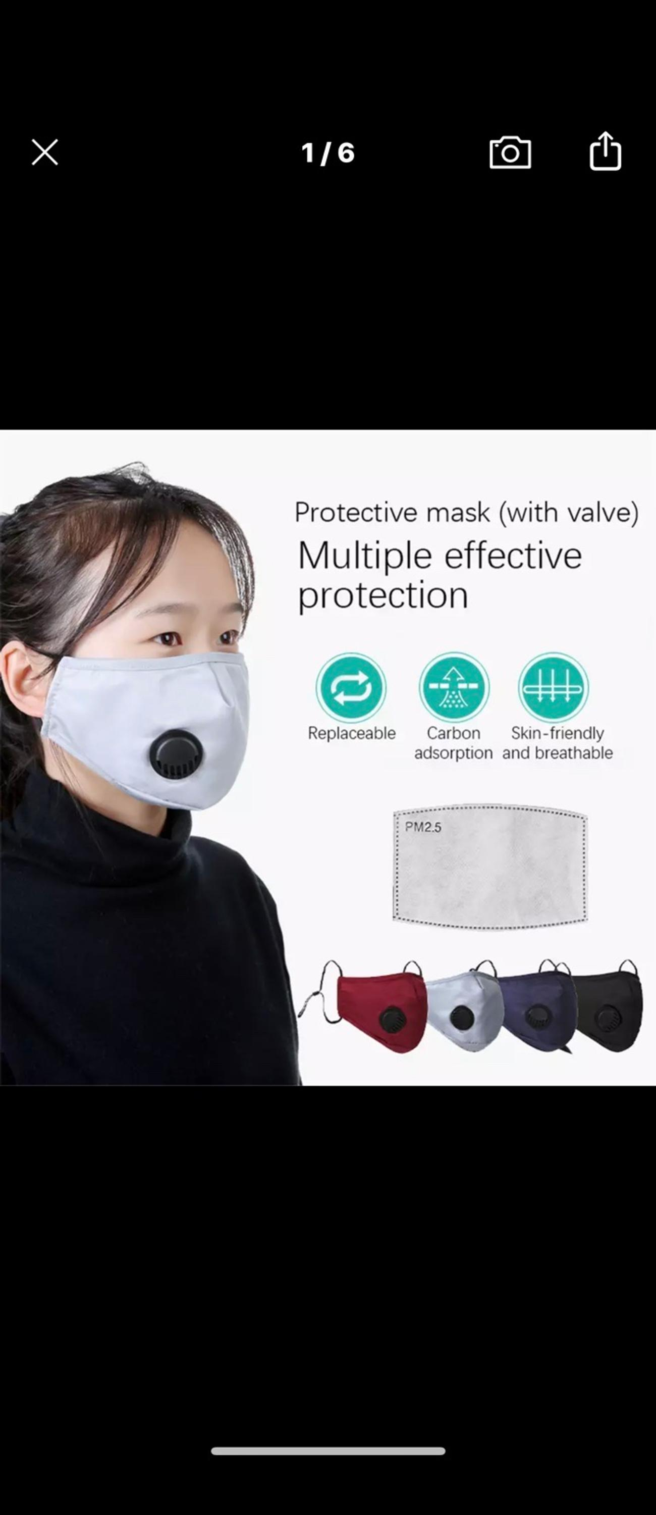 PM2.5 Air Purifying Face Mask Muffle Carbon Filter Dust Haze Fog Respirator Lot Features: Keep your face clean and neat ,protect your face aginst dust or any particles from environment. Simple design and look cool. Washable and Recycling. Comfortable breathing. One size suitable for all kinds of People. Unisex for Men and Women Condition: 100% Brand New and High Quality Material: cotton + Activated carbon Color : As the photo shown Size : As the photo shown Item NO.: Package included: 1 mask