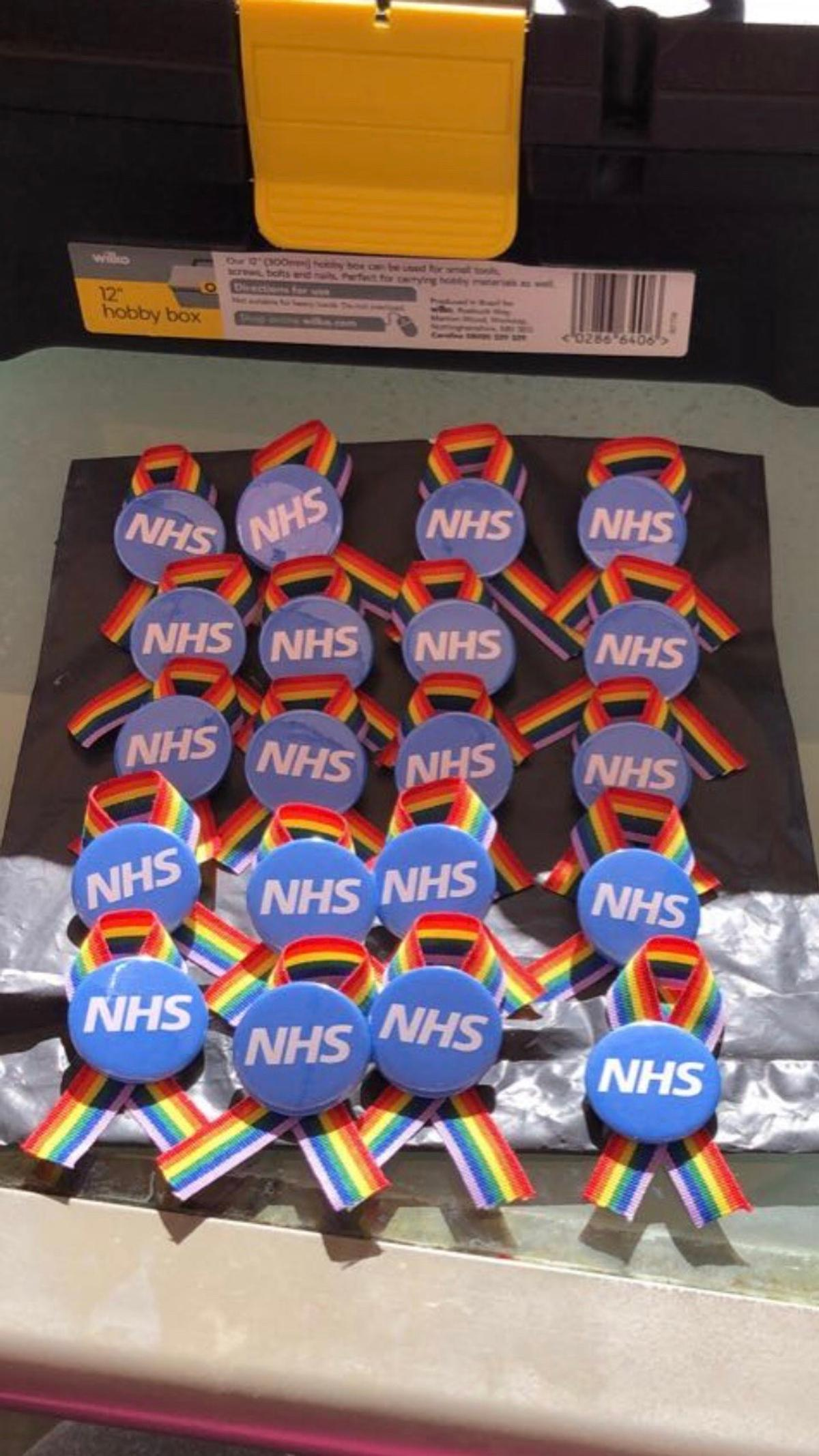 Nhs badges made by my autistic son 100% proceeds go to the nhs For all there fantastic work they have done during this unpresidented times . I can deliver any where in the uk . So please let's all raise money for these fantastic people who are risking their life's to save us from harm 😊