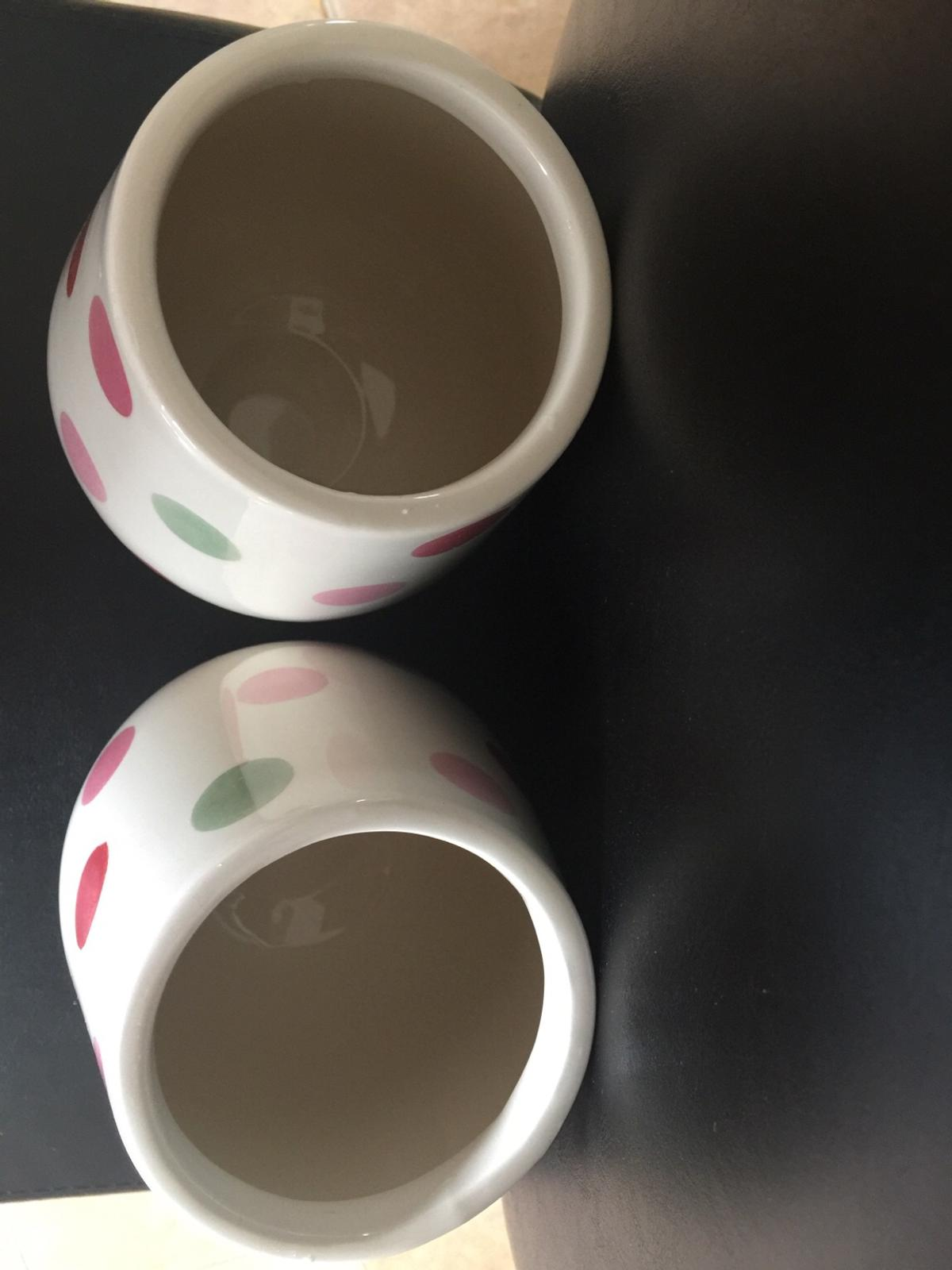 Next Sugar & Tea crock jars. Only have these 2 no coffee jar Perfect condition Collection only b63 area