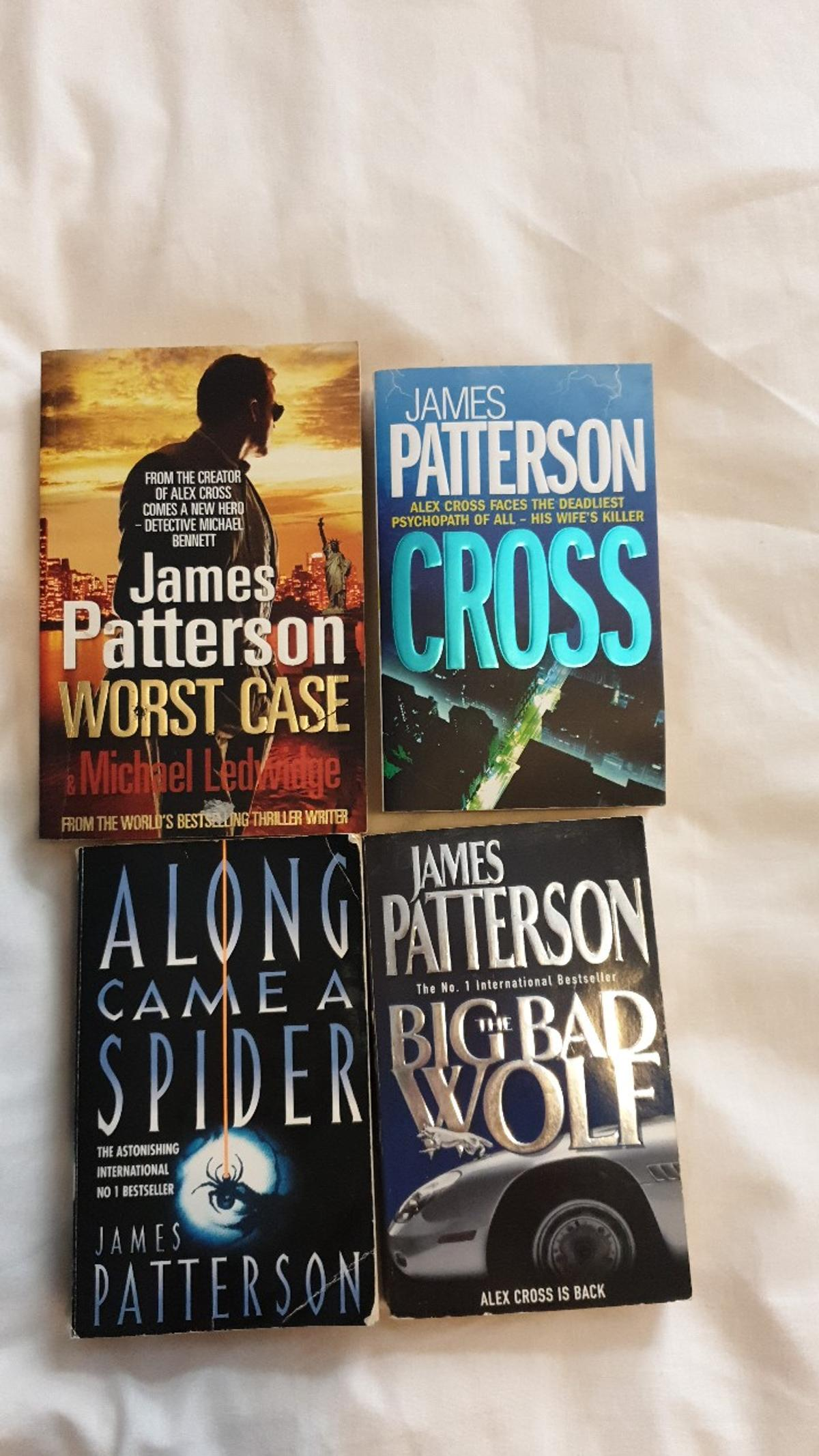 All in good condition. Would be willing to sell individually for £2 each.  Titles are: Worst Case Cross Along Came A Spider The Big Bad Wolf
