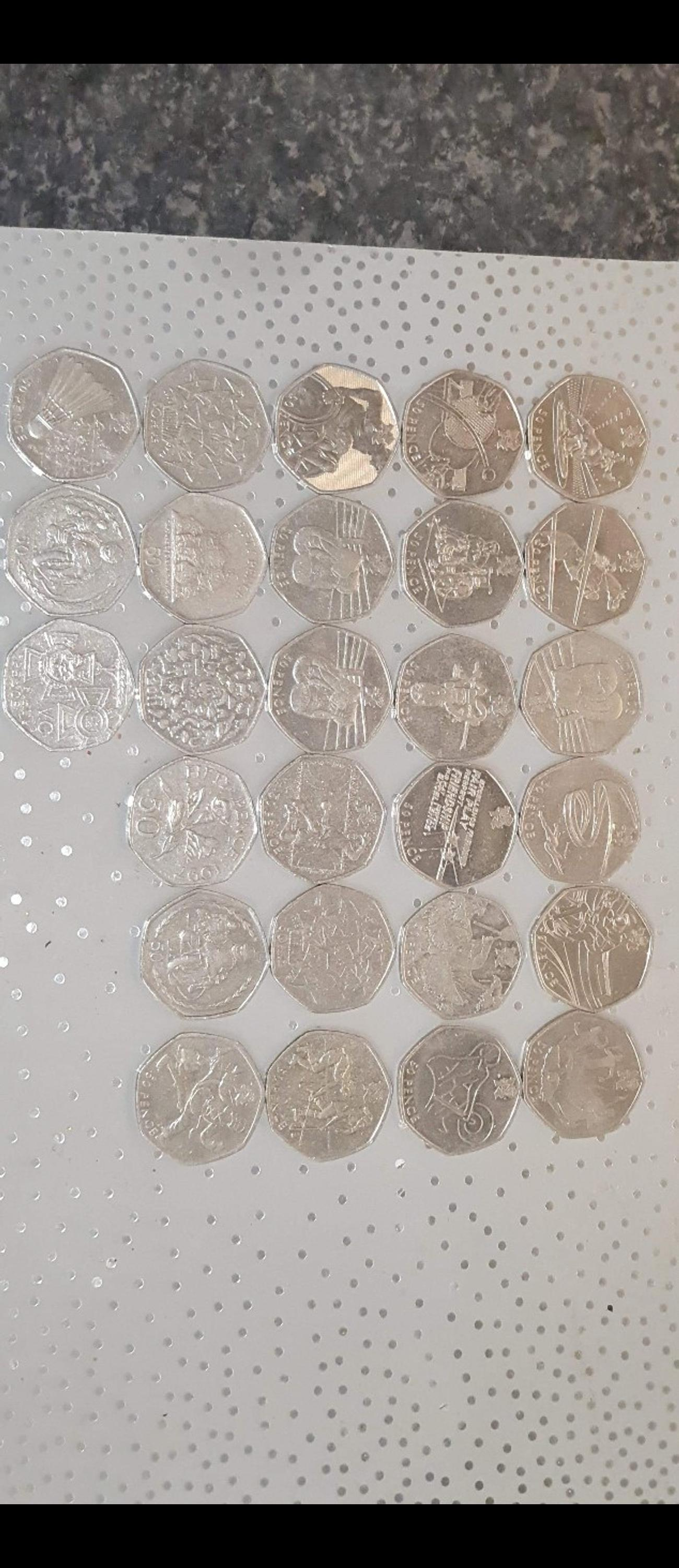 various 50ps all rare and hard to find