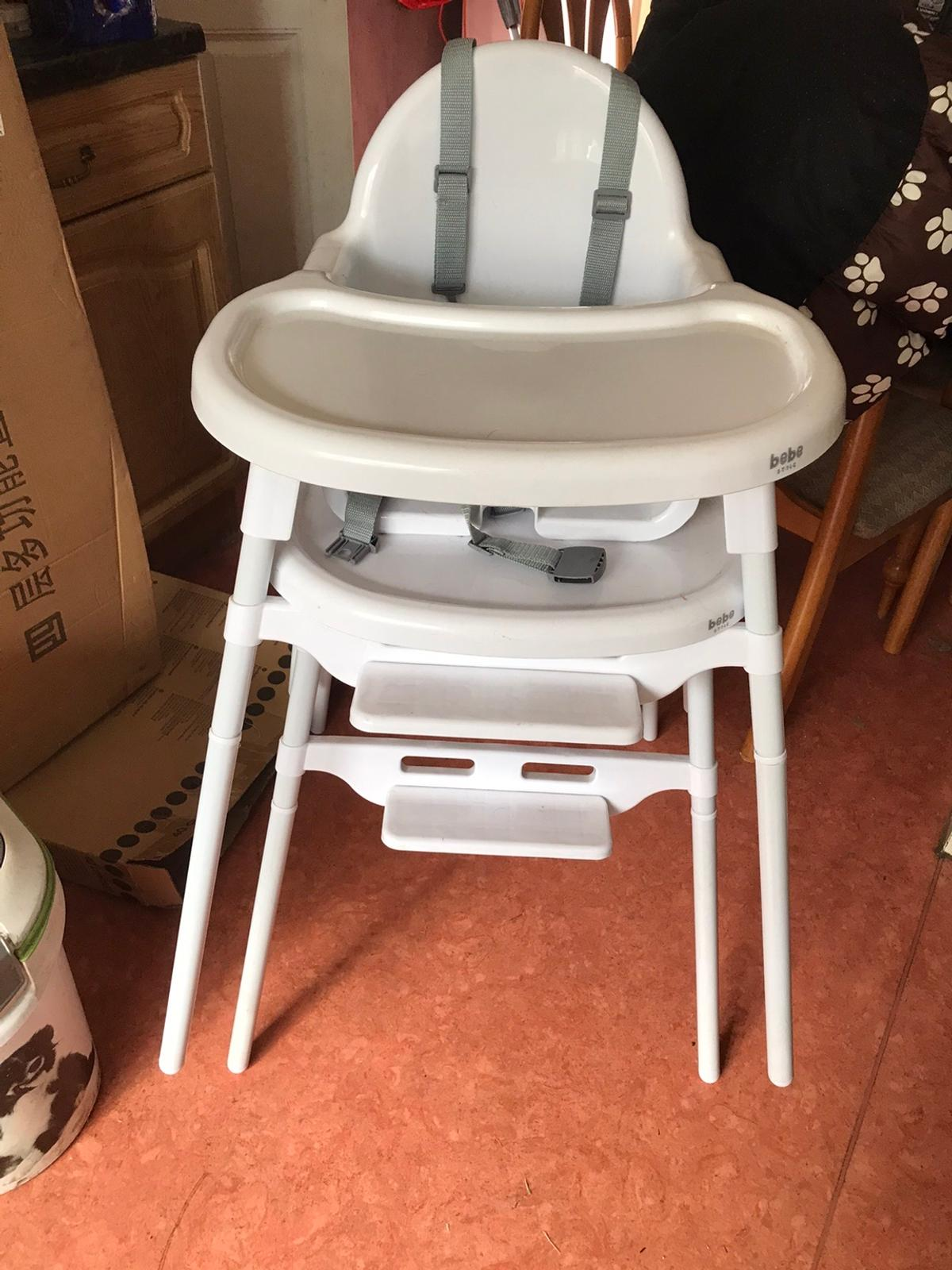 These are hardly used and can be high or low chairs,will sell separately, collect horbury 12.00 each