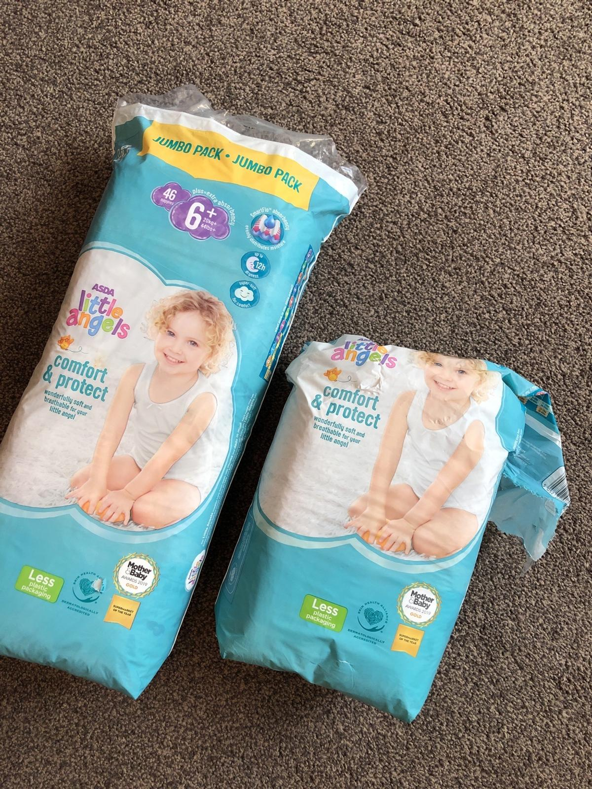 Little angel nappies size 6 and 6+.