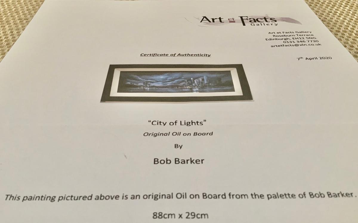 """Framed original oil on board painting by renowned artist Bob Barker. Framed size 41"""" x 18"""". Collection in person preferred but delivery by courier can be arranged at additional cost. Delivery UK only. Sensible offers will be considered. Thanks for looking."""