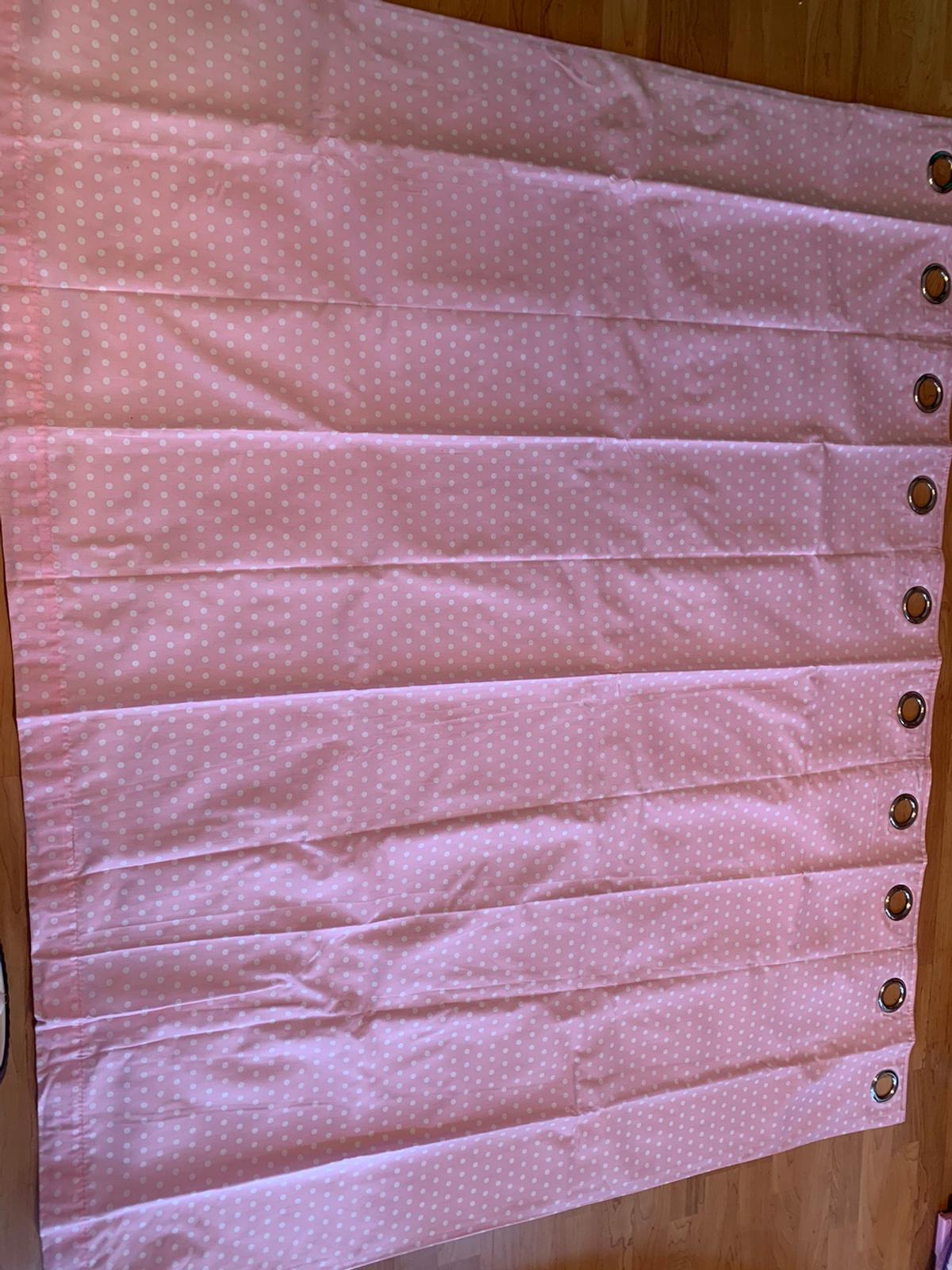 Polka Dot Blackout Curtains Pink And White In Wn4 Wigan For 5 00 For Sale Shpock