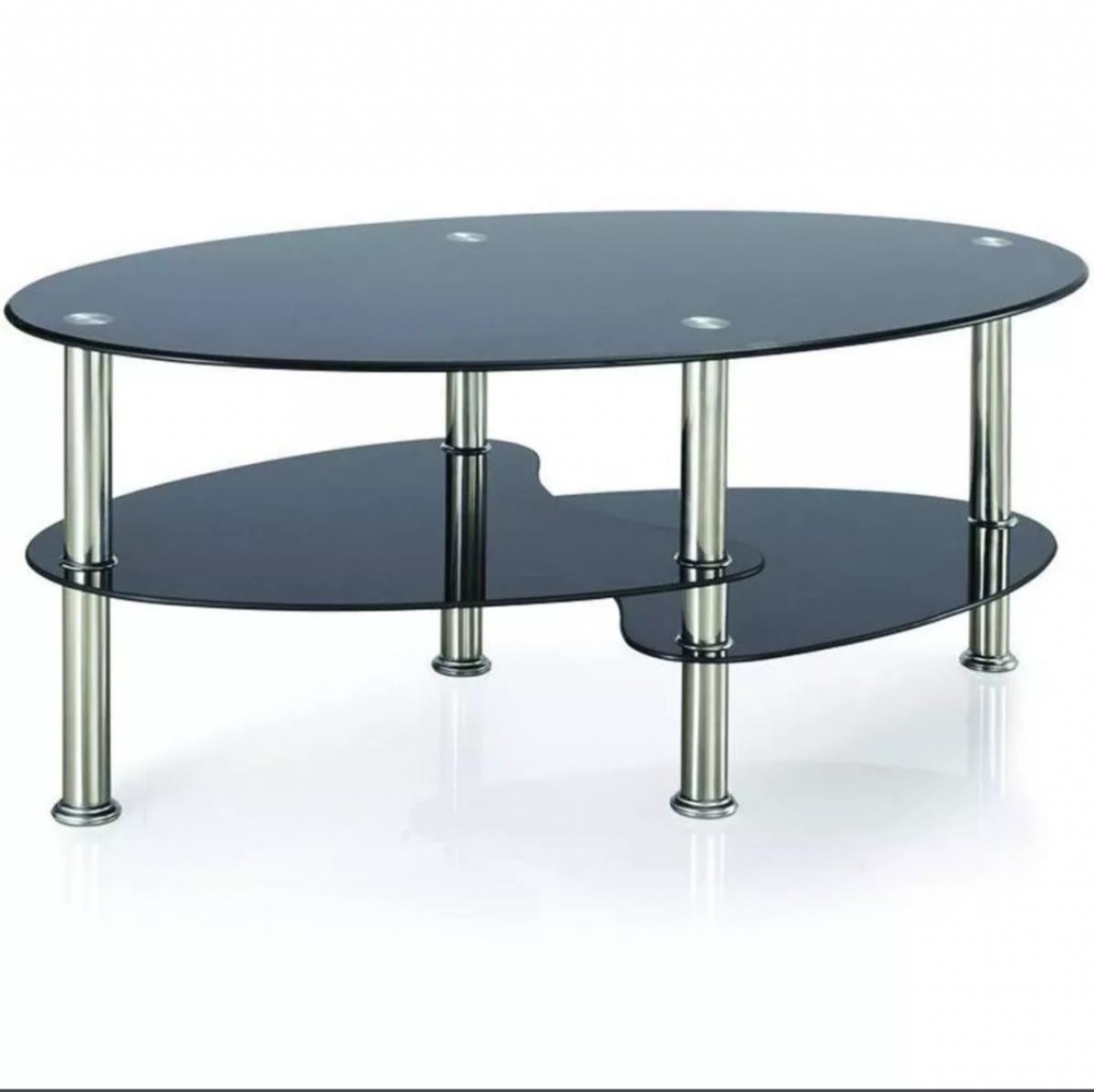 Picture of: Coffee Table Black Glass Stainless Legs In Ta6 Sedgemoor For 15 00 For Sale Shpock