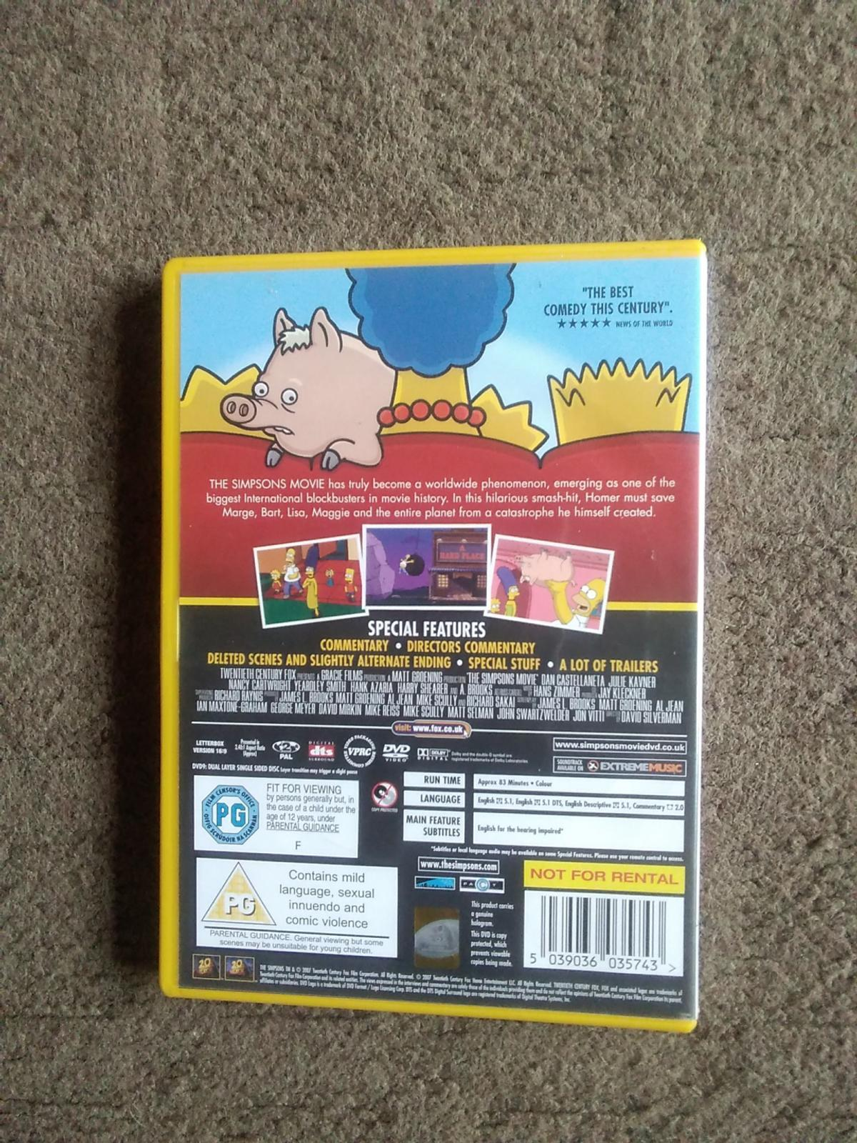 The Simpsons Movie Dvd In Ws11 Cannock Chase For 1 00 For Sale Shpock