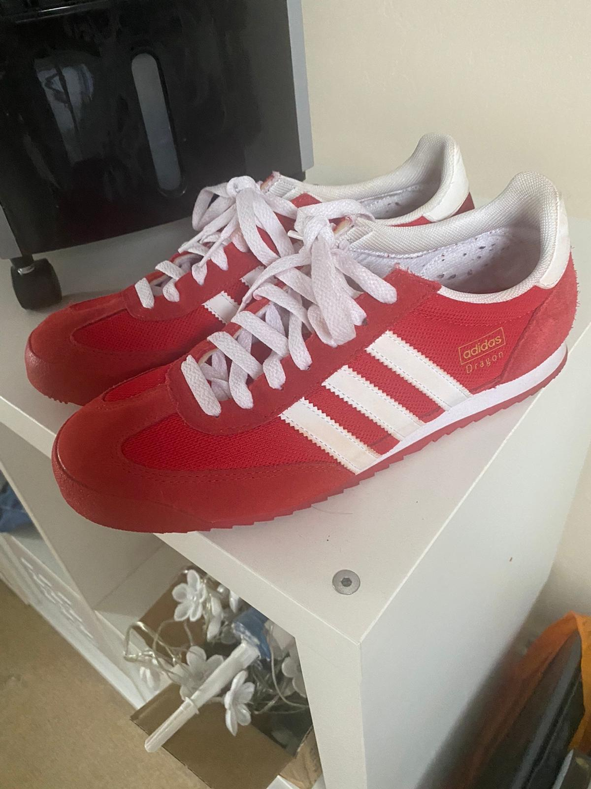 Aprovechar Manchuria Adviento  Adidas Dragon size 9 Red in DY10 Wyre Forest for £40.00 for sale | Shpock