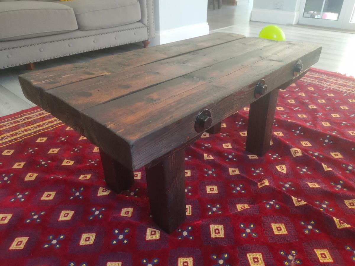 Picture of: Rustic Reclaimed Wood Coffee Tea Table In London For 150 00 For Sale Shpock