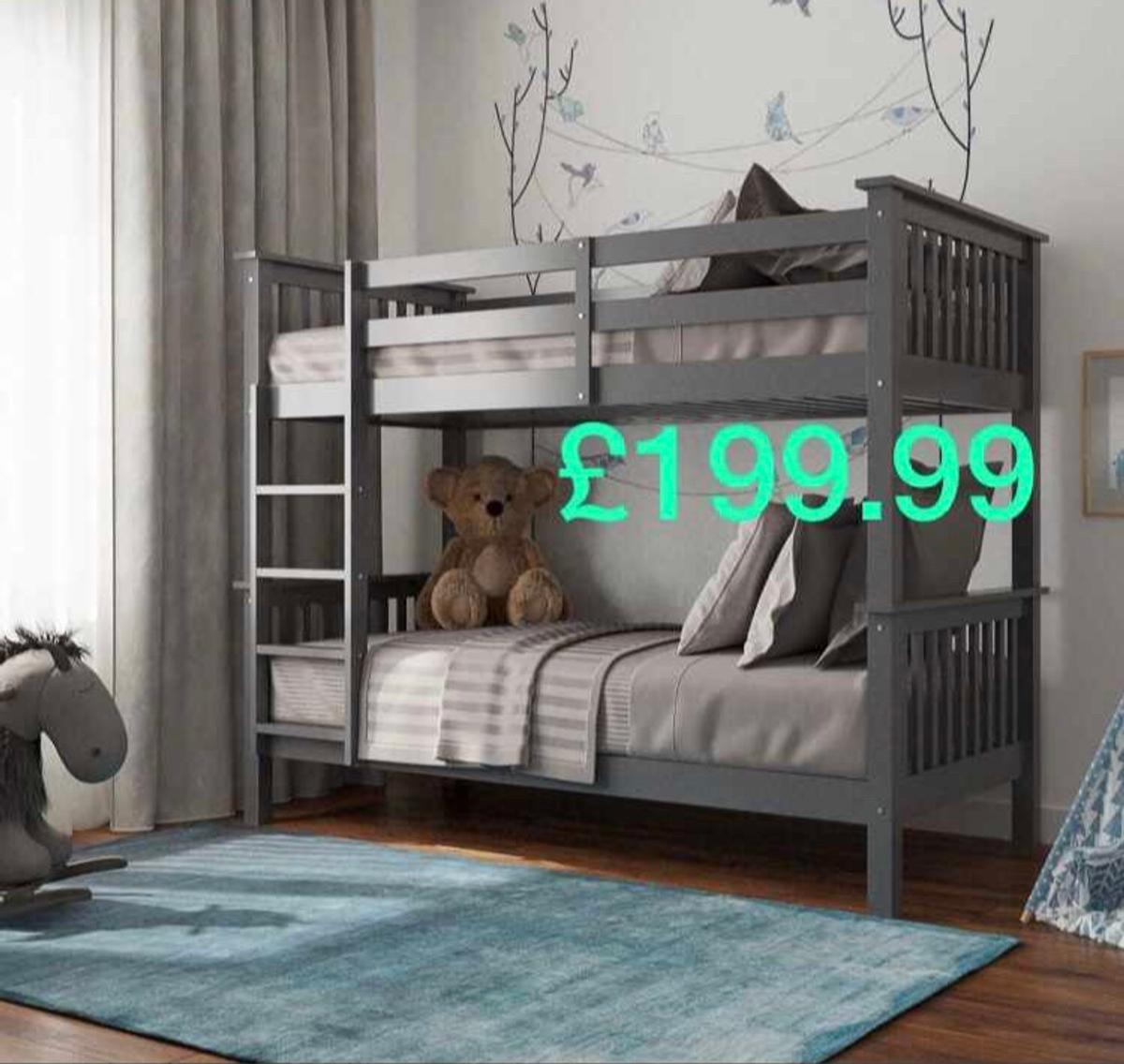 Zoom Bunk Bed In Grey Or White In Wf16 Heckmondwike For 199 00 For Sale Shpock
